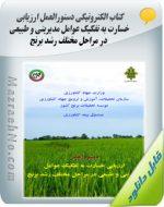 کتاب الکترونیکی دستورالعمل ارزیابی خسارت به تفکیک عوامل مدیریتی و طبیعی در مراحل مختلف رشد برنج