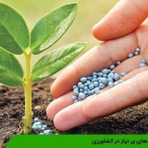 کودهای پر نیاز در کشاورزی