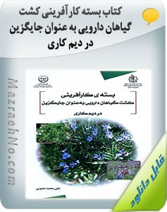 کتاب بسته کارآفرینی کشت گیاهان دارویی به عنوان جایگزین در دیم کاری